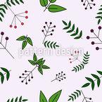 Beerenblätter Nahtloses Vektormuster