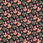 Endless Leaves Seamless Vector Pattern