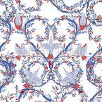 Kolibris Und Ranken Nahtloses Vektormuster