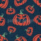 Unheimliche Halloween-Kürbisse Nahtloses Vektormuster