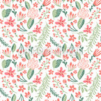 Cute Little Spring Flowers Seamless Vector Pattern Design