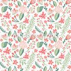 Niedliche Kleine Frühlingsblumen Nahtloses Vektormuster