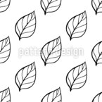Black And White Leaves Seamless Vector Pattern Design