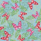 Butterfly Fantasy Garden Seamless Vector Pattern Design