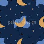 Minimalistic Night Sky Seamless Vector Pattern Design