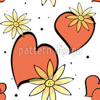 Die Schönheit Der Liebe Nahtloses Vektormuster