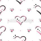 Herzen Der Liebe Nahtloses Vektormuster
