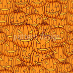 Kürbisse Für Halloween Nahtloses Vektormuster
