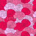 In The Land Of Roses Seamless Vector Pattern Design