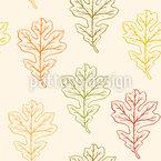 Herbstliche Eichenblätter Nahtloses Vektormuster