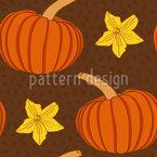 Herbstkürbis Nahtloses Vektormuster