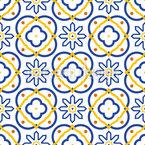 Azulejo-Formen Nahtloses Vektormuster