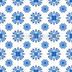 Floral Azulejo Tiles Seamless Vector Pattern Design
