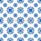 Florale Azulejo Fliesen Nahtloses Vektormuster
