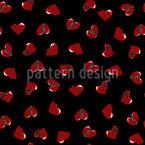Broken Hearts Seamless Vector Pattern Design