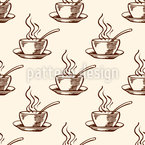 Coffee Cup Seamless Vector Pattern Design