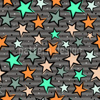 Magical Stars Seamless Vector Pattern Design