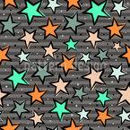 Magische Sterne Nahtloses Vektormuster