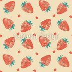 Abstrakte Erdbeere Nahtloses Vektormuster