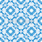 Floral Mosaic Tiles Seamless Vector Pattern Design