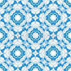 Florale Mosaikfliesen Nahtloses Vektormuster