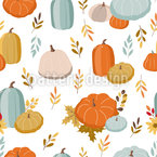 Pastel Autumn Seamless Vector Pattern Design
