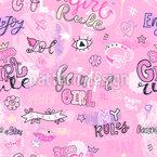 Mädchen-Wörter Nahtloses Vektormuster