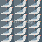 Seagulls In The Night Seamless Vector Pattern Design