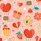 Romantic Items Seamless Vector Pattern Design