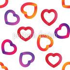 Kräftige Herzen Nahtloses Vektormuster