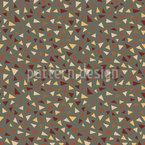 Herbstliches Terrazzo Nahtloses Vektormuster