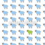 Das Grüne Schaf Nahtloses Vektormuster