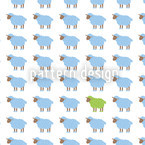 The Green Sheep Seamless Vector Pattern Design