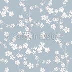 Cherry Flowers Seamless Vector Pattern Design
