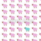 The Turqoise Sheep Seamless Vector Pattern Design