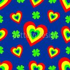 Herzen Voller Glück Nahtloses Vektormuster
