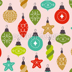 Christmas Tree Bauble Seamless Vector Pattern Design