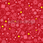 Christmas Drinks And Sweets Seamless Vector Pattern Design