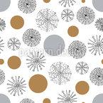 Zauberhafte Schneeflocken Nahtloses Vektormuster