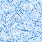 Monochrome Bananenblätter Nahtloses Vektormuster