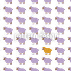 The Orange Sheep Seamless Vector Pattern Design