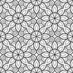 Floral Coloring Mandala Seamless Vector Pattern Design