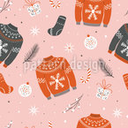 Christmas Sweater Seamless Vector Pattern Design