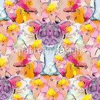 Abstrakte Blumen-Komposition Nahtloses Vektormuster