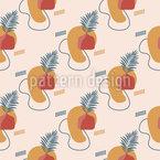 Abstract Art Terracotta Seamless Vector Pattern Design