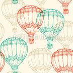 Vintage Ballonfahrt Nahtloses Vektormuster