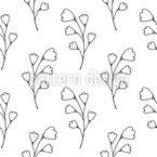 Doodle-Pflanze Nahtloses Vektormuster