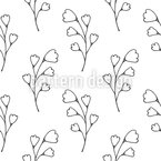 Doodle Plant Seamless Vector Pattern Design