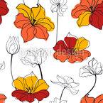 Tulip Flower Seamless Vector Pattern Design