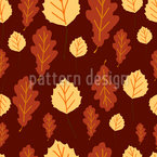 Autumn Leaves Symphony Seamless Vector Pattern Design